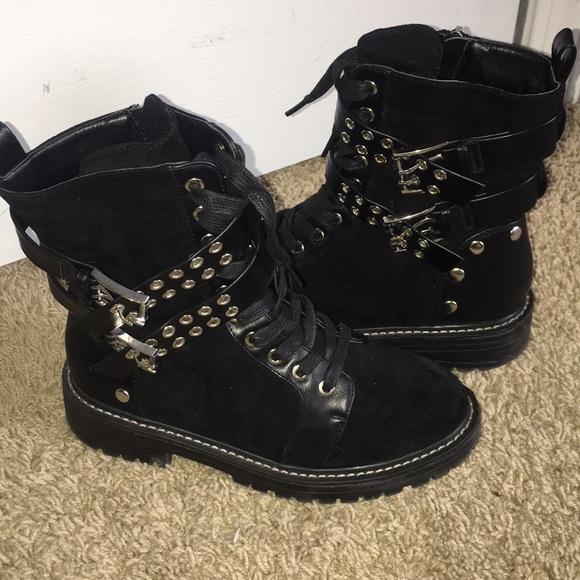 Fashion Nova Shoes   All Black Rockstar